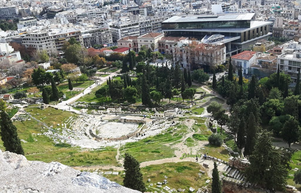 The ancient Theatre of Dionysos